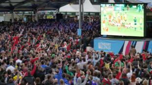 Dix mille supporters ont assisté à la rencontre Australie - Pays de Galles dans la fanzone de Cardiff