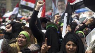 Une manifestation pro-Morsi au Caire