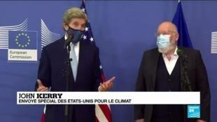 """2021-03-10 10:37 Réchauffement climatique : John Kerry prône une """"décennie d'action"""""""