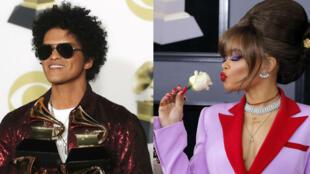 Bruno Mars arrasó con seis Grammy y celebridades como Rihanna lucieron flores blancas en apoyo al movimiento #MeToo