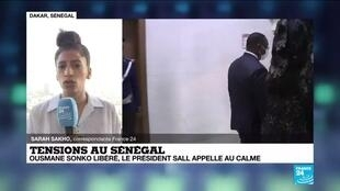 2021-03-09 09:03 Sénégal : Macky Sall tente de jouer l'apaisement