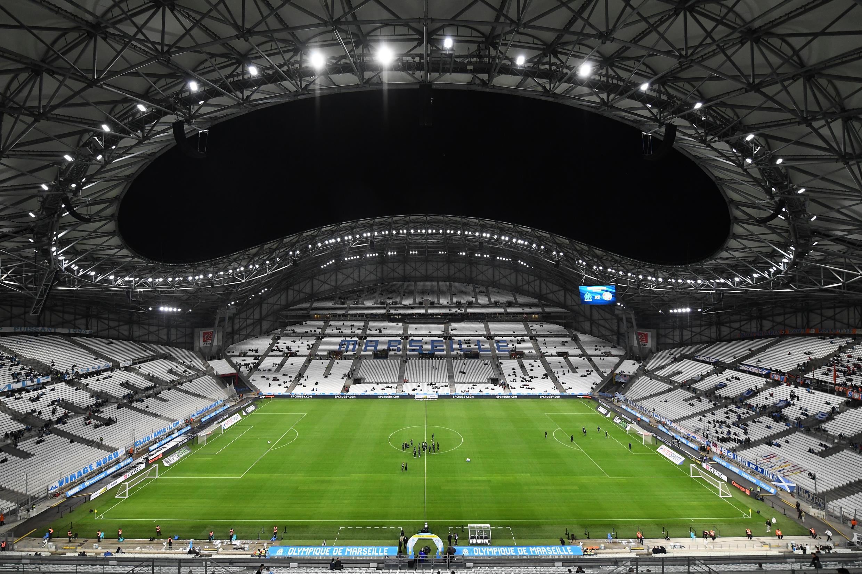 Une vue du stade Vélodrome à Marseille, avant la rencontre entre l'OM et le Racing club de Strasbourg (RCS), le 20 octobre 2019.