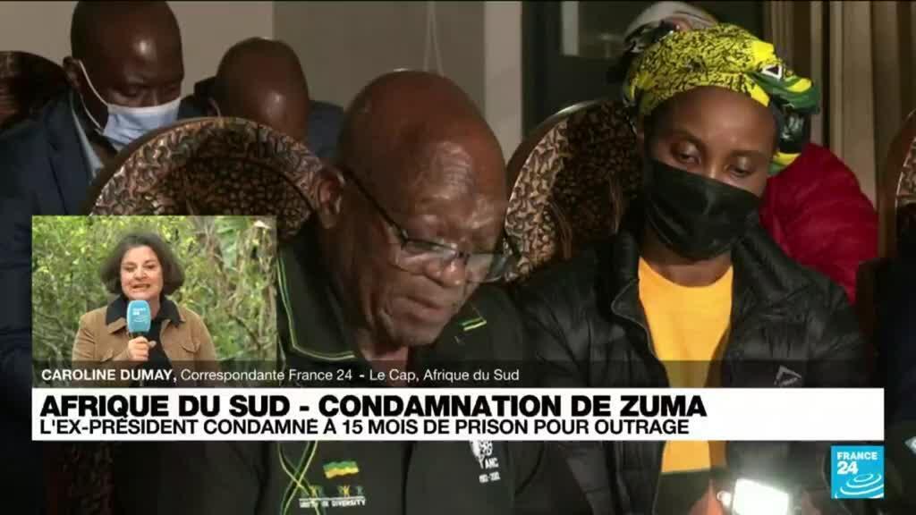 """2021-07-08 09:04 Condamnation de Jacob Zuma : """"Un symbole extraordinaire"""" pour les Sud-africains"""