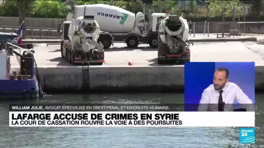 2021-09-07 15:02 Lafarge accusé de crimes en Syrie: la cour de cassation se prononce aujourd'hui