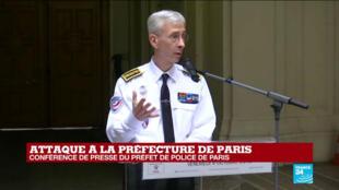 Le préfet de police, Didier Lallement, lors d'un point presse à la préfecture de police de Paris, le 4octobre 2019.