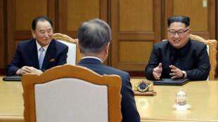 El vicepresidente de Corea del Norte, Kim Yong Chol (izquierda) visitará Nueva york, para afinar detalles de cara a la cumbre. Mayo 26 de 2018