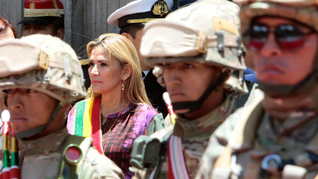 Archivo: la entonces presidenta interina de Bolivia, Jeanine Áñez, durante una ceremonia, en La Paz, Bolivia, el 18 de noviembre de 2019.