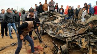 الغارات الإسرائيلية الأخيرة على غزة خلفت سبعة قتلى على الأقل. 2018/11/13.