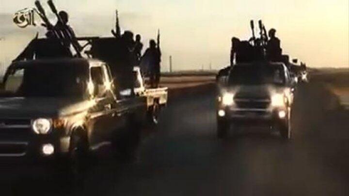 """الصورة من فيديو دعائي لتنظيم """"الدولة الإسلامية"""""""
