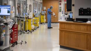 Dans l'unité de soins intensifs de l'hôpital du comté de Van Wert, dans l'Ohio, le 20 novembre 2020