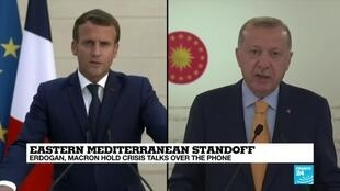 2020-09-23 09:09 Turkish President Erdogan discusses east Mediterranean with France's Macron