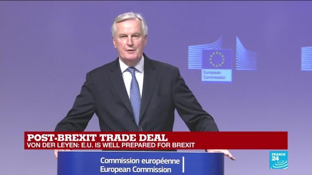 "2020-12-24 16:06 REPLAY: EU's Barnier says Brexit deal a relief, ""clock no longer ticking"""
