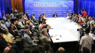 El presidente venezolano, Nicolás Maduro, lidera una reunión del Gobierno con inversionistas en Caracas, Venezuela, el 6 de febrero de 2020.