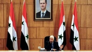 وزير الخارجية السوري وليد المعلم أثناء مؤتمره الصحافي، دمشق 2 حزيران/يونيو 2018.