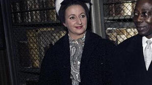 Colette Senghor et son mari, le 11 Novembre 1961, en déplacement à Francfort.