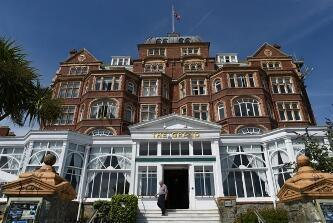 """The Grand"", a symbol of Folkestone's former glory days as a upmarket sea resort. Photo: Mehdi Chebil / FRANCE 24."