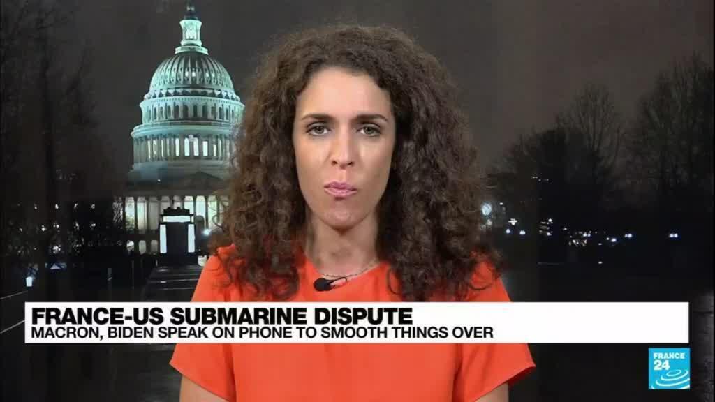 2021-09-23 08:02 Macron, Biden have 'friendly' talk to defuse submarine row