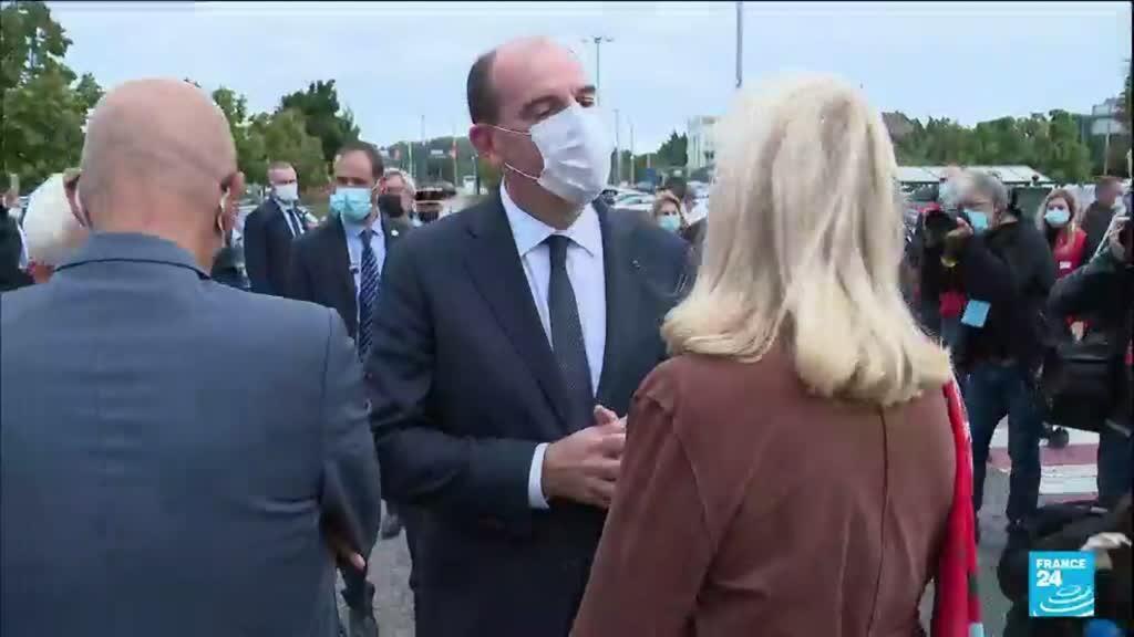 """2021-09-03 10:13 Jean Castex dans la Manche pour """"accélérer"""" la lutte contre les violences conjugales"""