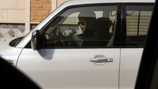 ناشطة سعودية خلف المقود في الرياض 22 يونيو 2011