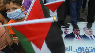A deal to normalise ties between Israel and the UAE sparked anger among supporters of the Palestinians - prompting protests by Palestinian refugees in Lebanon