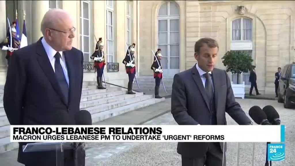2021-09-24 16:09 Macron urges new Lebanese PM to undertake 'urgent' reforms