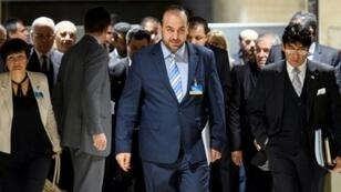وفد المعارضة السورية خلال الجولة الأخيرة من محادثات جنيف