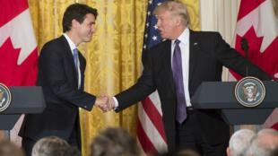 Le Premier ministre canadien libéral Justin Trudeau a rencontré Donald Trump à Washington, lundi 13 février.