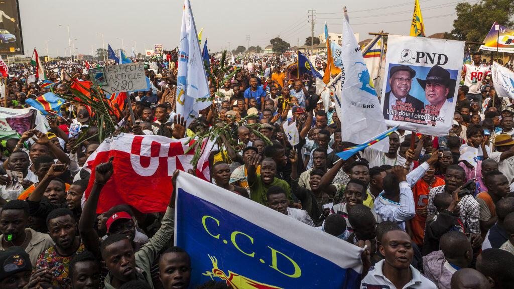 Les partisans de l'oposition ont manifesté le 31 juillet à Kinshasa en soutien à l'opposant historique de Joseph Kabila, Étienne Tshisekedi.