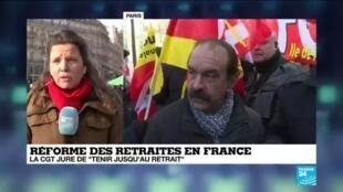 2020-01-24 11:02 Réforme des retraites : Les avocats et infirmiers se rassemblent en nombre place de la République