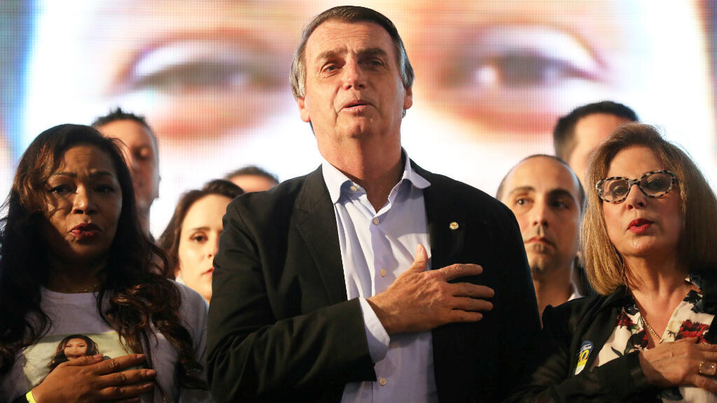 Jair Bolsonaro, le 30 août 2018, à Porto Alegre.
