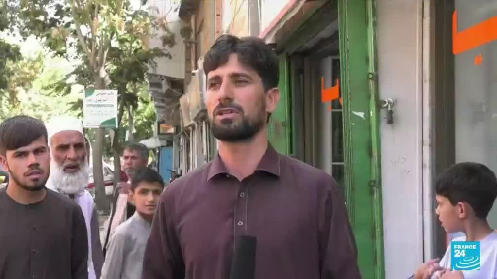2021-09-03 09:35 New era for Afghanistan starts with long queues outside banks, rising prices