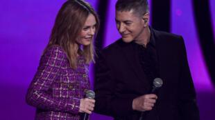 Etienne Daho et Vanessa Paradis, le 12 février 2021 à la Seine Musicale à Boulogne-Billancourt près de Paris