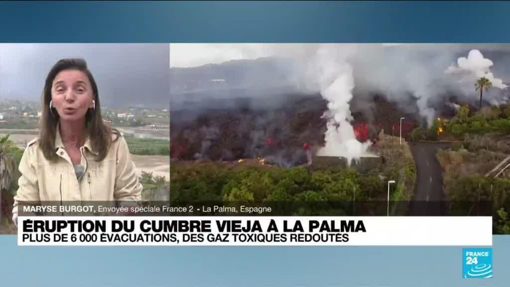 2021-09-22 15:13 Eruption aux Canaries: 6.000 personnes évacuées, la lave attendue sur la côte