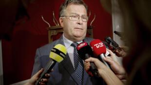 Le ministre danois de la Défense Claus Hjort Frederiksen, ici en 2011 alors qu'il était ministre des Finances, a accusé la Russie de piratage.