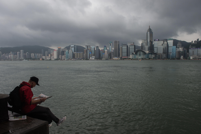 Vue sur le port Victoria de Hong Kong.