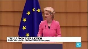 2020-09-16 17:04 Discours sur l'état de l'UE : Ursula von der Leyen expose son plan d'action