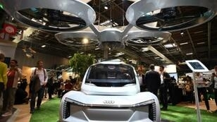 A flying car prototype, developed by Airbus and Audi seen at last year's Vivatech fair in Paris