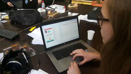 Le développement de l'application e-Migreat, qui a terminé sur la deuxième place du podium de ce hackaton.
