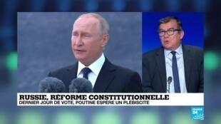 """2020-07-01 10:10 Réforme constitutionnelle en Russie : """"Vladimir Poutine est en train de faire de son pay un régime autocratique"""""""