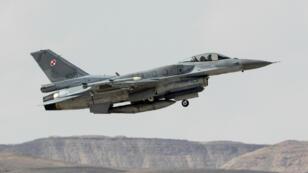 Un avion de chasse israélien, le 8 novembre 2017, lors d'un exercice mené en Israël.