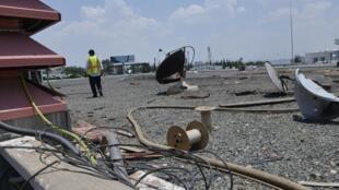 Les dégâts à l'aéroport d'Abha après l'attaque aérienne du 12 juin, présentés par les autorités saoudiennes.