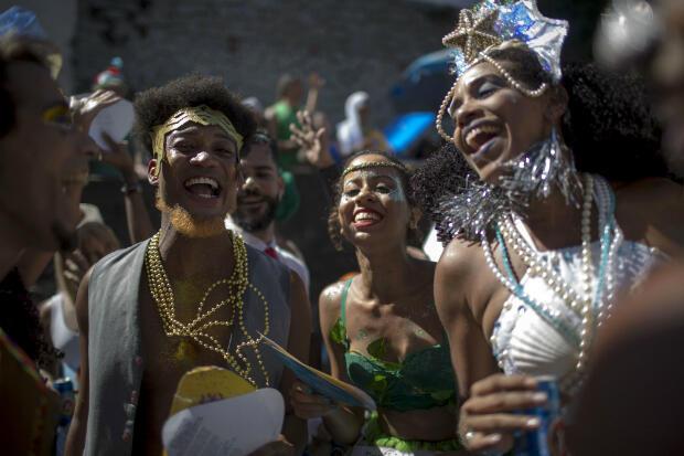 Le Bloco das Carmelitas dans le quartier de Santa Teresa, à Rio de Janeiro.