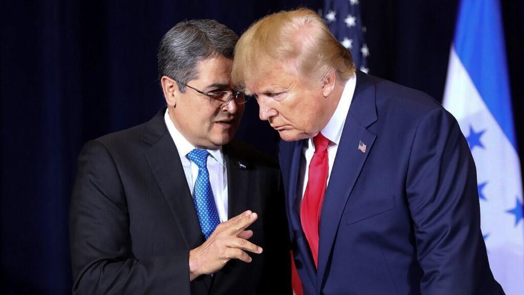 Encuentro del presidente de Honduras, Juan Orlando Hernández, y su homólogo de Estados Unidos, Donald Trump, en el marco de la Asamblea General de las Naciones Unidas, que tiene lugar en Nueva York.