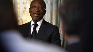 Image d'archive du président du Bénin, Patrice Talon, lors d'une visite à Paris, le 5 mars 2018.