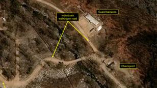 Une photo aérienne du site d'essais nucléaires de Punggye-ri prise par le Centre national d'études spatiales (CNES) en avril 2017.
