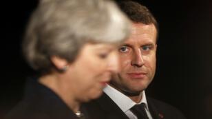 Emmanuel Macron et Theresa May affichent leur unité au sujet de l'affaire Skripal.