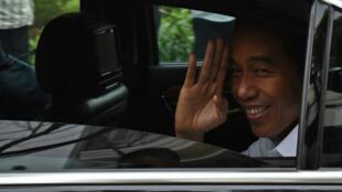 Le président réélu Joko Widodo, le 18 avril 2019, à Jakarta.