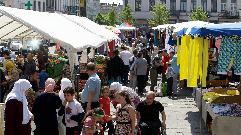 Mercado de Molenbeek, el 8 de mayo de 2018.