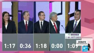 Los candidatos presidenciales intervinieron en el primer debate de cara a los comicios del 1 de julio.