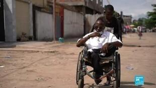 Le Congolais Olivier Bakweto a perdu l'usage de ses deux jambes à l'âge de deux ans.